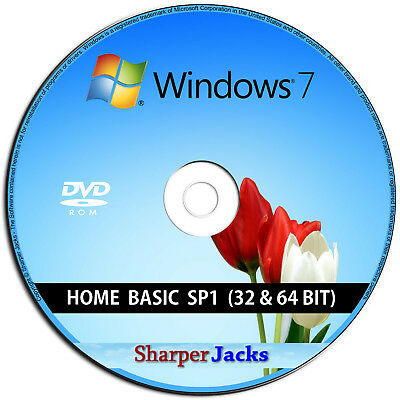 Windows 7 Home Basic 32/64-bit Instalación/ Reinstalar/ Restore/ Mono/ Reparar