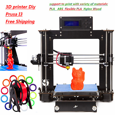 High Precision Reprap Prusa i3 Aluminium 3D Printer Kit Upgraded Full Quality CT