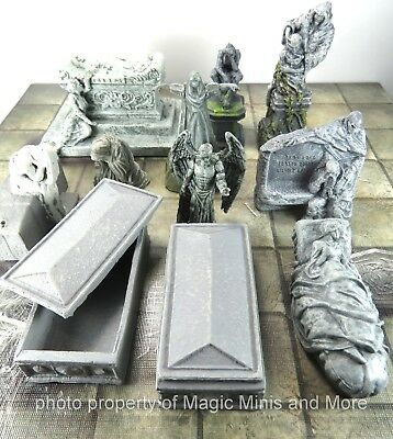 Waterdeep Dragon Heist ~ CITY OF THE DEAD ~ STATUES & MONUMENTS D&D Case Promo