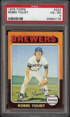1975 Topps #223 Robin Yount Rookie RC Brewers HOF Baseball Card PSA 4 VG-EX