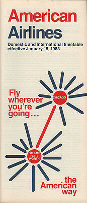 American Airlines system timetable 1/15/83 [308AA] Buy 2 Get 1 Free