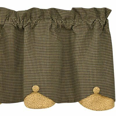 Country Star Lined Scalloped Valance