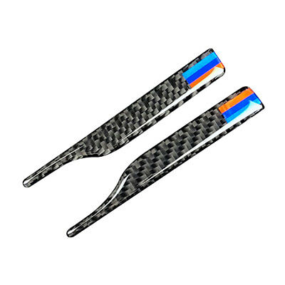 "4"" Carbon Fiber M Style Rearview Mirror Anti-Rub Strips For BMW VW SUV Universal"