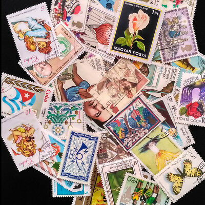 10Pcs Postage Stamp Worldwide Collection Old Foreign All The World Stamps Craft