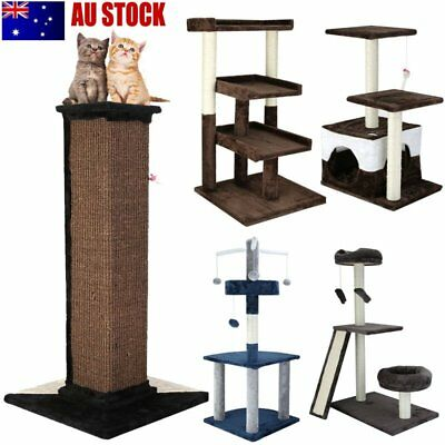 Cat Scratching Post Tree Pole Scratcher Gym Activity Furniture Kitten Toy 5 Type