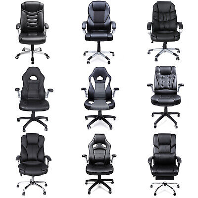 SONGMICS PU Office Chair Swivel Chair Executive Computer Gaming Chair Desk Chair