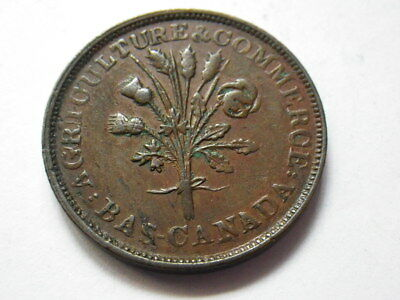 Canada ND Bouquet Sous Montreal Half Penny Token (gVF) Variety 1