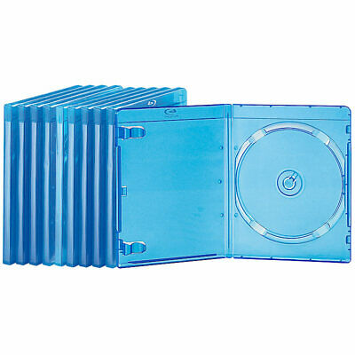 PEARL Blu-ray Slim-Soft-Hüllen blau-transparent im 10er-Pack für je 1 Disc