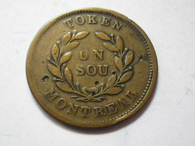 """Canada ND Bouquet Sous """"Montreal Issue"""" Half Penny Token (Fine) Variety 5"""