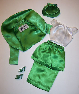 Vintage Barbie Complete Theatre Theater Date Green Satin Suit #959 #1612 1960's