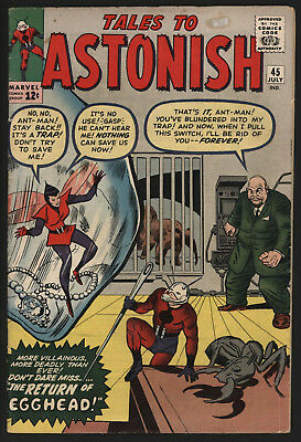 Tales To Astonish #45 Jul 1963, Great Off White/white Page Quality.