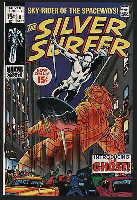 Silver Surfer #8 Sep 1969, John Buscema Art, White Pages, Very Glossy!
