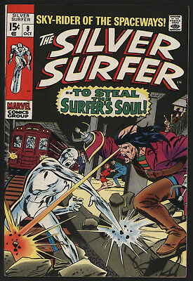 Silver Surfer #9 Oct 1969, John Buscema Art, Off White/white Pages, Very Glossy!