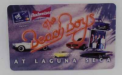 The Beach Boys GM Budweiser / At Laguna Seca 10 Unit Prepaid Phone Card