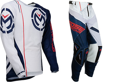 New Sahara Moose Racing Red White Blue Adult Mens Mx Offroad Jersey Pants Combo
