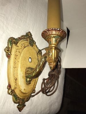 Riddle Art Deco Wall Light Sconce Electric Fixture Company Antique