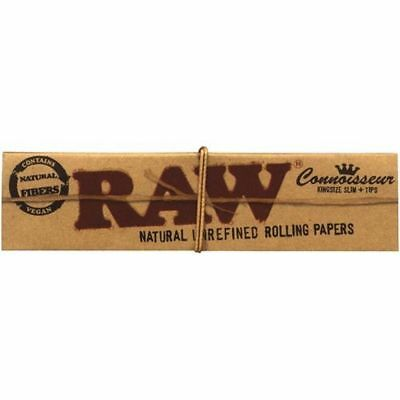 Raw Classic Connoisseur King Size Slim With Tips Rolling Paper