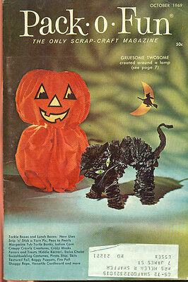 PACK-O-FUN Scrap-Craft Magazine October 1969 Halloween issue
