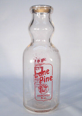 Lone Pine Hanover Nj Morris County New Jersey Quart Acl Graduate Milk Bottle