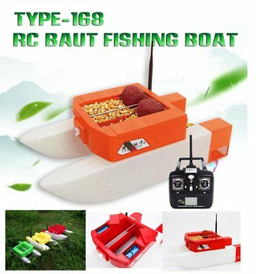 New T168 Fast Electric RC Fishing Bait Boat 4KG Load Cruel With Double Warehouse