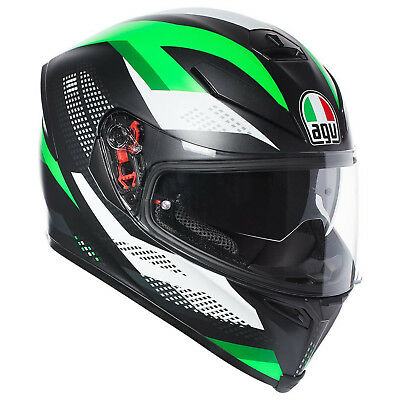 Casco Verde Kawasaki Agv K5 S Marble Matt Black White Green MS 57 Moto Integrale