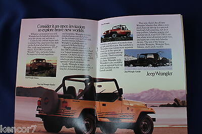 1989 Jeep Full Line Sales Brochure D8520