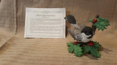 Vintage  LENOX Bird Collection Black- Capped Chickadee  1 of 51 From Estate