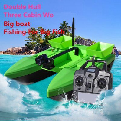 500M Double Hull Wireless RC Fishing Bait Boat 2KG Load Three Cabin Wo Bait Boat