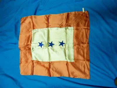 WWII Son in Service Satin Banner Flag 3 Blue Stars Vintage U.S. Military Army
