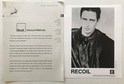 RECOIL Alan Wlder Press Kit with 8x10 Photo 1997 Unsound Methods Depeche Mode