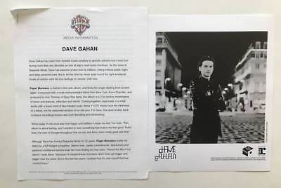 DAVE GAHAN Paper Monsters Presskit and 8x10 Photo 2003 Depeche Mode