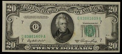Series 1950 A $20 Federal Reserve Note Chicago Fr#2060G Item#M3878