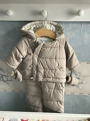 Vertbaudet Baby All In One Snowsuite NB To 3 Months