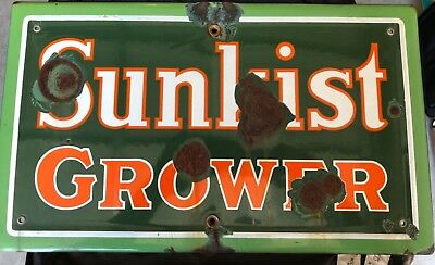 Sunkist Grower Porcelain Sign
