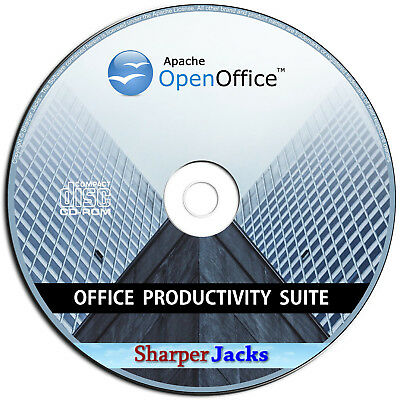 NEW & Fast Ship! Apache Open Office Suite - Word Processor / Spreadsheet - Disc