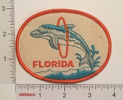 Vintage FLORIDA Dolphin State Travel Souvenir Embroidered PATCH