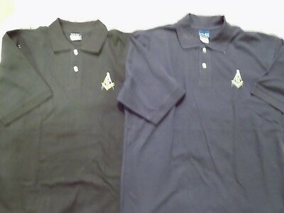Mens Square Compass 3XL Polo Shirt Hanes Stay Clean Embroidered Logo NEW!