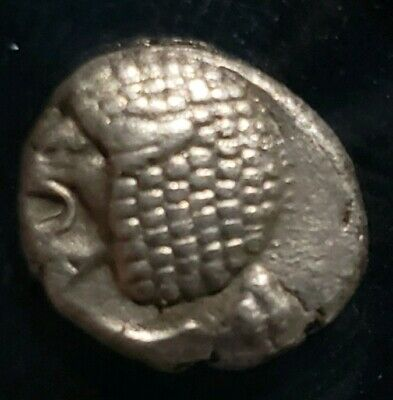Ionia Miletos 525-429 BC Silver Diobol Lion 1.12 grams. Ancient Greek