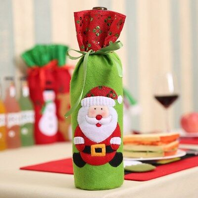 Christmas Wine Bottle Bags Wine Bottle Sleeve Sequins Xmas Home Kitchen Holder