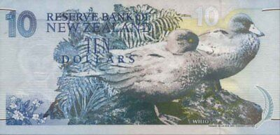 New Zealand CFU 1994 $10 Blue Back 85gsm Paper Banknote variety Brash issue p182