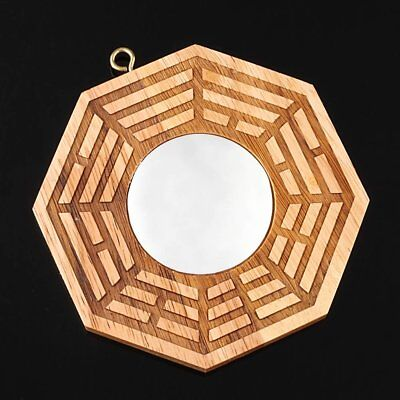 US New Feng Shui Peach Wood Bagua Convex Mirrors Pakua 4 Inch