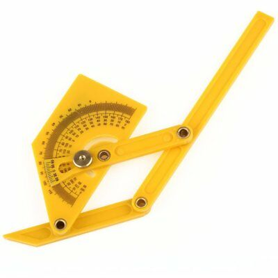 US Ship Angle Finder Protractor Goniometer Miter Gauge Plastic Brass Fittings 6""