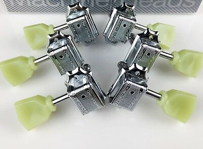 NEW Wilkinson WJ44 3x3 Vintage Tuners Chrome for Les Paul SG ES Gibson/Epiphone