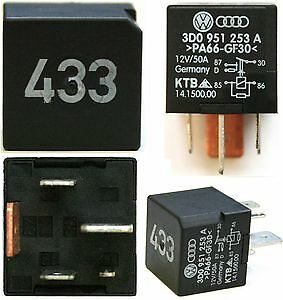 VW Touareg 2002 to 2007 Number 433 Relay 3D0 951 253 A