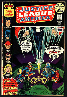 Justice League Of America #98 , May 1972, Cents Copy, White Fresh Pages!
