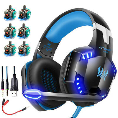 3.5mm Gaming Headphones Headset LED Stereo Surround for PS4 Xbox one X 360E PC