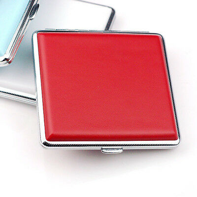 Women 20 Cigarette Case White copper Tobacco Pocket Smoke Holder Box Red