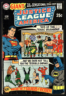 Justice League Of America #76, Nov/dec 1969, Cents Copy, Murphy Anderson Cover