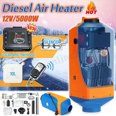 12V 5KW Diesel Air Heater+LCD Thermostat+10L Tank Kit For Truck Car Trailer Boat