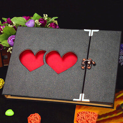 New Love Photo Album Hollow Cover DIY Craft Gift Wedding Photo Album UK